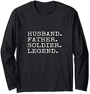 [Featured] Husband Father Soldier Legend Dad Father's Day Gift Idea Long Sleeve in ALL styles | Size S - 5XL