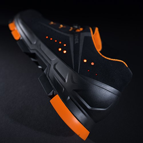 Uvex Safety Sicherheitsschuh 6501 2 S1 P SRC | Perforierter Arbeitsschuh | mit Zehenkappe | Farbe: Schwarz | Größe 35-52