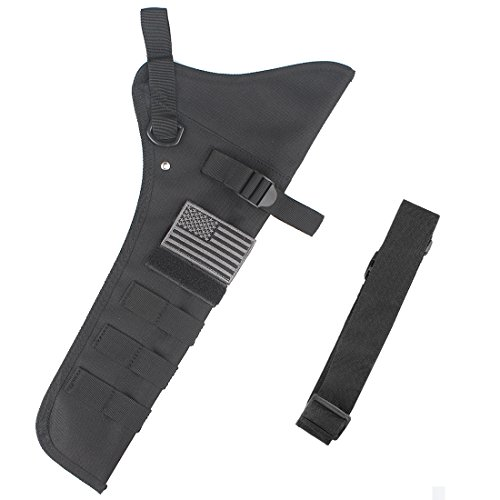 KRATARC Archery Lightweight Hip Arrow Quiver Foldable Compact Arrows Bag with Molle System Hanged for Target Shooting (Black)