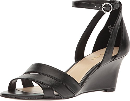 "Nine West ""Roles Wedge Sandals Black 10.5 M"