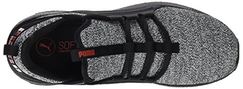 Puma Herren Mega Nrgy Breien Cross-trainer Schwarz (puma Zwart-wit-vlam Scarlet)