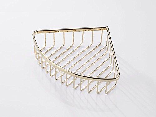 SANLIV Corner Wire Basket Shower Caddy Shelf for Shampoo, Conditioner, Soap Holder - Bathroom Shower Storage Organizer (Shower Basket Satin Brass)