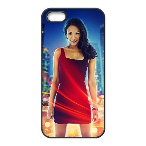 Iris West 001 coque iPhone 5 5S cellulaire cas coque de téléphone cas téléphone cellulaire noir couvercle EOKXLLNCD24582