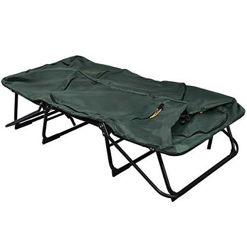 Tangkula Tent Cot Folding Waterproof 2 Person Hiking Elevated Camping Tent with Carry Bag by Tangkula (Image #5)