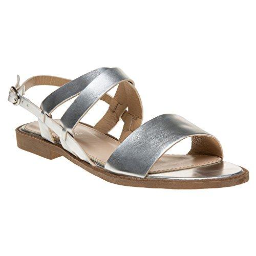 SOLESISTER Hale Sandals Metallic Silver y8XPm9Gg
