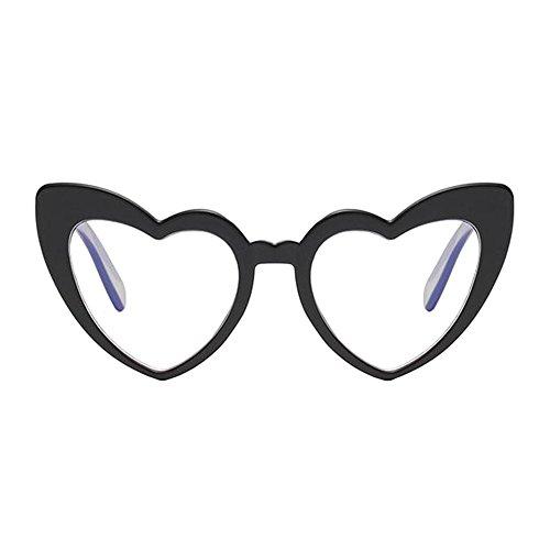 En Classique Style de forme Oeil UV Lunettes Noir Glasses Love Élégant lunettes de chat Rétro de protectrices Heart Lunettes Hzjundasi Polarisé soleil Protection qwSX8d7q