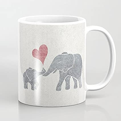 For Elephant Baby Gifts Heart Mum Thankgving Coffee Mug 11 Oz And N08XwOPkn