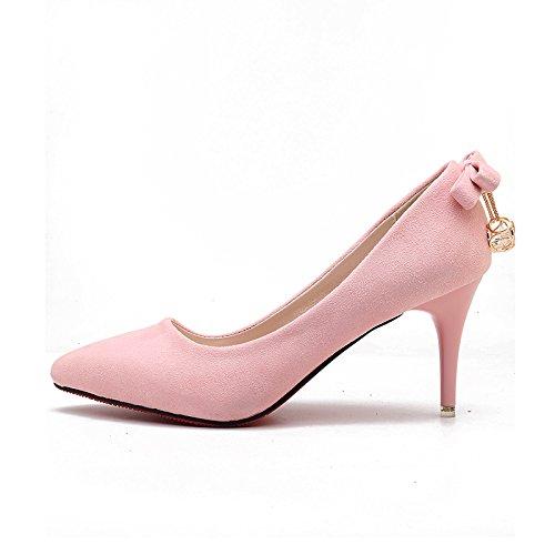 fina Los un alto la versátil de zapatos negro zapato satén de de Rosa cm 6 zapatos tacón chica trabajo de 34 ligero con punta y ocupacional wxqrfFXxA