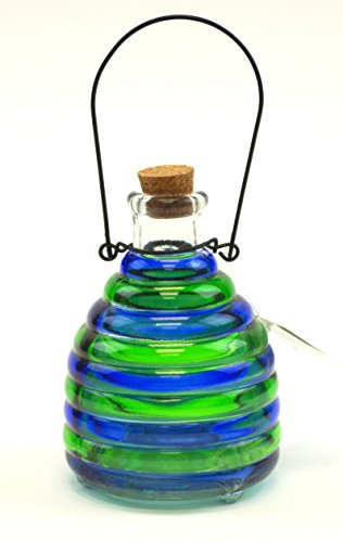 wasp-trap-colorful-glass-no-pesticide-wasp-hornet-yellow-jacket-trap-green-blue