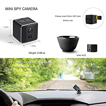 Mini Spy Camera,1080P Spy Camera Wireless Hidden Mini Camera Spy Wireless, Hidden Spy Camera -Nanny Cam with Night Vision and Motion Detection-Surveillance Camera for Home, Office, Outdoor
