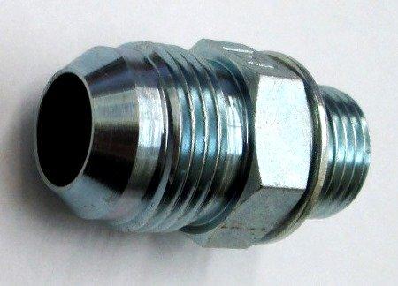 AF 9002-06-04-3/8 Male JIC (9/16''-18 Threads) X 1/4 Male BSPP (.520''-19 Threads) O-Ring Port ()