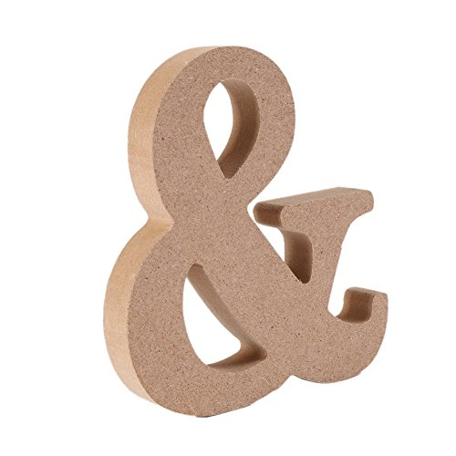 Homedeco DIY 30D Wooden Alphabet Letters Large Size Plaque Wall Numbers Children Education Wedding Nursery Home Decoration & (Large Wooden Halloween Decorations)