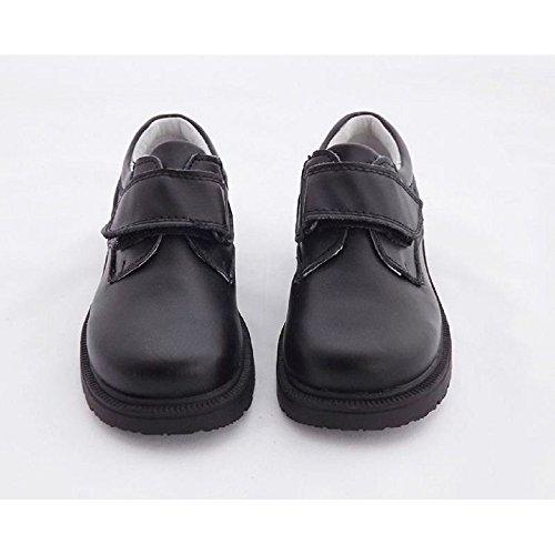 67cd7d08353 Zapato Colegial Piel Zapato para Niño Zapato Escolar para Niños Cierre con  Velcro Color Negro 597VA