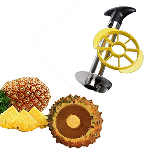 MineDecor Pineapple Cutter Slicer Stainless Steel Pineapple Corer Kitchen Fruit Peeler Stem Remover Blades]()