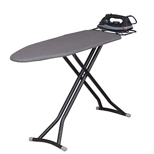 YUSDP Ironing Board - Compact, Collapsible Folding Legs,Rubber Non-Slip Mat Metal Iron Rest to Prevent Scorching Convenient for College Dorm, Studio ()
