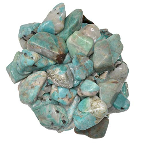 Hypnotic Gems Materials: 1 lb Amazonite Tumbled Stones - Grade 2 - Medium - 1