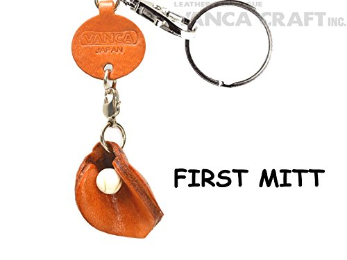 (First mitt/lefty Leather Goods Small Keychains VANCA CRAFT-Collectible keyring Made in Japan)