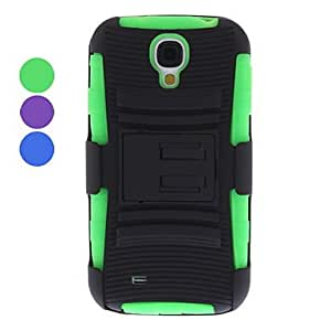 MOM Removable Belt Clip Hard Case with Stand for Samsung Galaxy S4 I9500 (Assorted Colors) , Blue