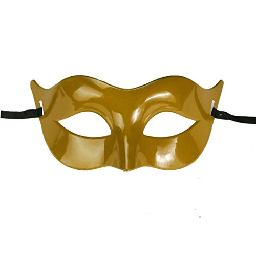 YJYdada Classic Masquerade Half Face Mask For Party Costume Ball (Gold) -