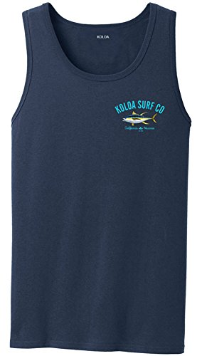 (Koloa Surf Yellow Fin Tuna Logo Heavyweight Cotton Tank Top-Navy/c-L)