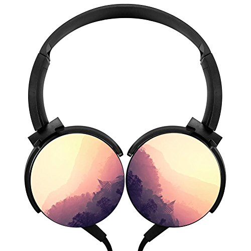 (Rosy Beautiful View Over-ear Noise cancelling Lightweight Headphone)