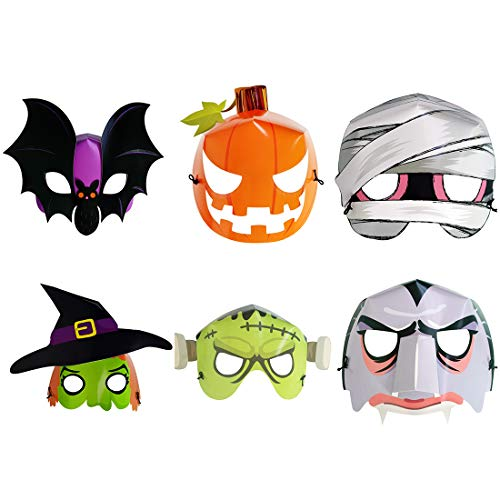 Monster Masks For Kids - WEYFLY 24 PCS Halloween Masks Luminous