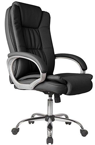 Venta Stock Confort 2 - Sillon de oficina elevable y reclinable, piel sintetica, color negro