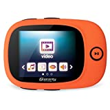 Sports 8GB MP3 MP4 Player with Large Screen, FM Radio, view photo and video, E-book reading, Recording (Support up to 32 GB) [with earphone] - Orange