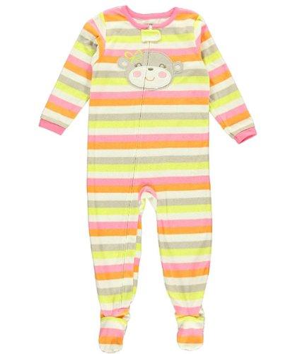 Monkey w Green Bow-5T Carters Toddler Footed Fleece Sleeper