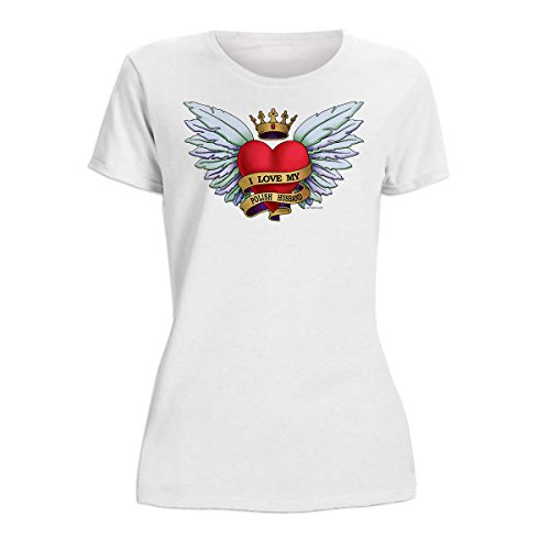Heart Tattoo, Polish Husband – Women's T-Shirt