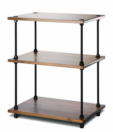 Salamander Designs A3/W Archetype 3-Shelf Audio Stand (Walnut) (Audio Video Rack Shelf 3)