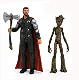 DIAMOND SELECT TOYS Marvel Select: Avengers Infinity War Thor & Groot Action Figure