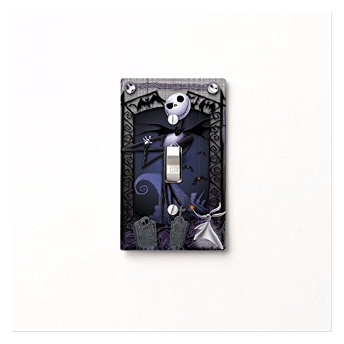 Nightmare Before Christmas Light Switch Cover Matching Jack Skellington Lock Shock and Barrel (Toggle Light Switch Plate) (1x Toggle)