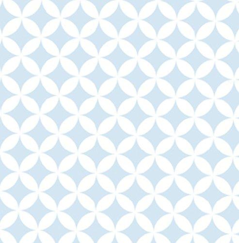 Klebefolie selbstklebende Möbelfolie Elliott hellblau Dekorfolie 45 cm x 200 cm Selbstklebefolie Retro Motiv Bastelfolie