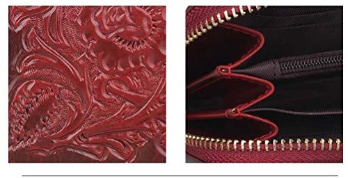 Et Sculpté Légumes Mode Cuir Femmes Fleur Creative 2 Zipper Niceamz À La En Rétro Hommes color Tissu Main 4 Nouveau Portefeuille Tanné wzq4xIO