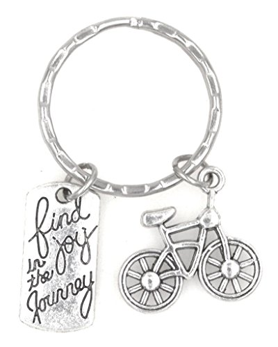 Find Joy in The Journey Cyclist Race Tournament Participant Bicycle Keychain 105J