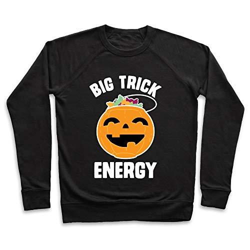 LookHUMAN Big Trick Energy Medium Black Unisex Crewneck -