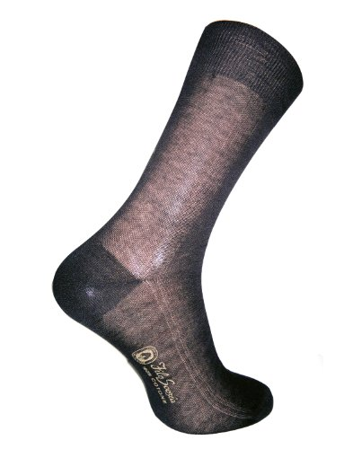 Daniel Jacob Men's 12 100% Cotton Socks Panel 9.5-11 (UK) 44-46 (EU) 10.5-12 (US) Black by Daniel Jacob