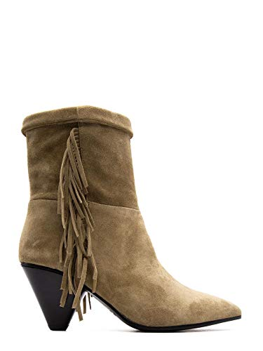 Boots & Janet Ankle - JANET&JANET Women's 43659Brown Brown Suede Ankle Boots