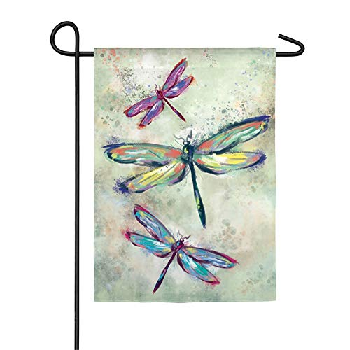 Evergreen Dragonfly Beauty Organza Garden Flag