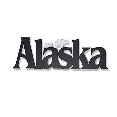 Alaska Wall - Memory Mats & Word Art US States Decorative Wall Signs, Vacation & Destination Geographic Graphic Plaque (Alaska)
