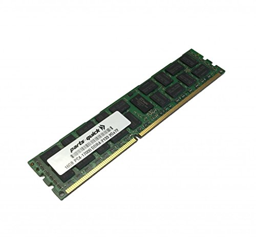 16GB Memory for HP Z440 Workstation DDR4 PC4-17000 2133 MHz RDIMM RAM (PARTS-QUICK BRAND) by parts-quick