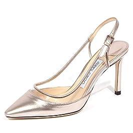 JIMMY CHOO 1944J Sandalo Donna Light Platinum Erin Leather/plexi Shoe Woman