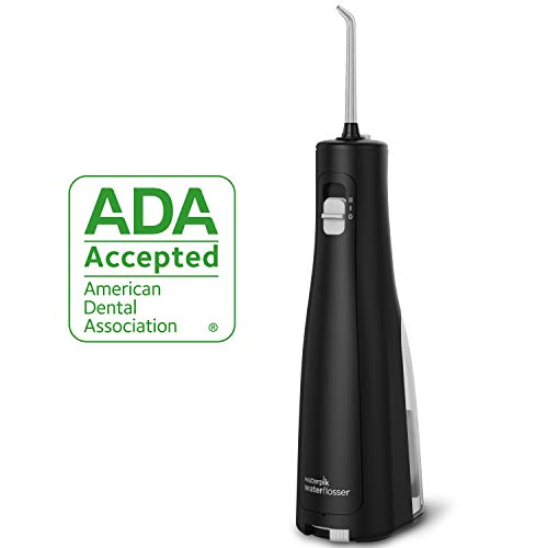 Cordless Water Flosser, Waterpik Cordless Freedom ADA Accepted Oral Irrigator, Battery Operated & Portable for Travel & Home, Waterproof with Travel Bag & 3 Jet Tips, WF-03