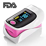 Elera Pink Color Fingertip Pulse Oximeter Oximetry Finger Oximeter Blood Oxygen Saturation Monitor FDA CE ISO Approved