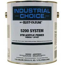 - Rust-Oleum 5200 System < 250 Voc Dtm Acrylic, Gray Primer 5 Gallon Pail