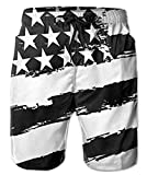 Unique Pants Laser Cat X-Cat American Flag Beach