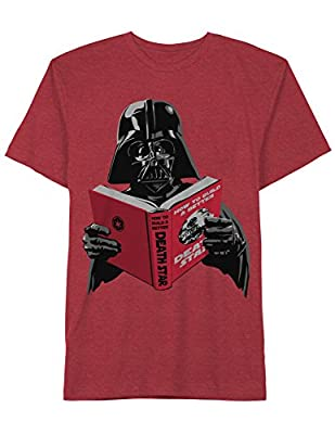 Darth Vader Read How to Death Star Funny Star Wars Mens Adult T-Shirt Red