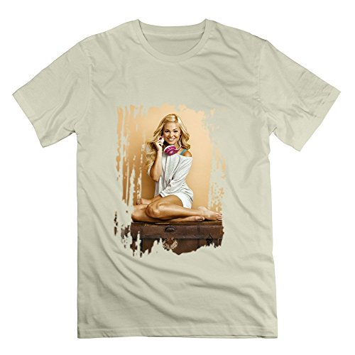 Men's Insidious Chapter 3 Olivia Holt Poster Screw Neck Tees Size L Natural