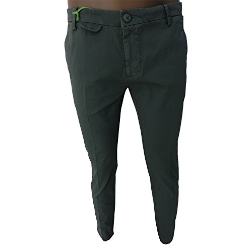 Pantalone uomo Dimattia 0739 - Sorrento love bottle 97% cotone 3% elastan made in italy verde (52)